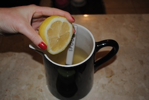 freshly squeezed lemon