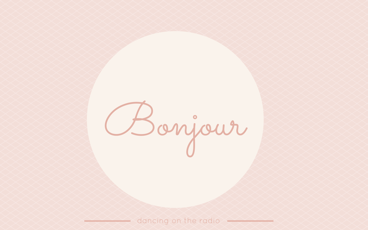 bonjour french inspired computer wallpaper, dancing on the radio