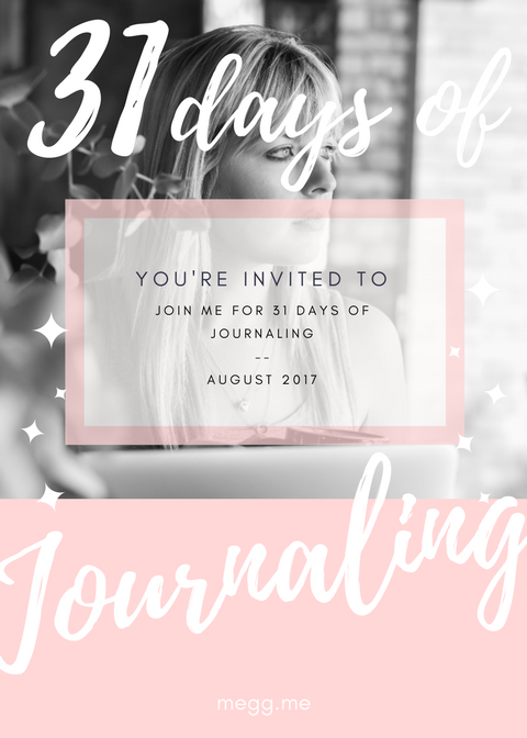 31 days of journaling