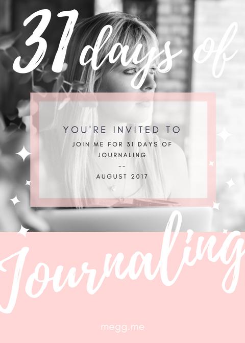 31 days of journaling