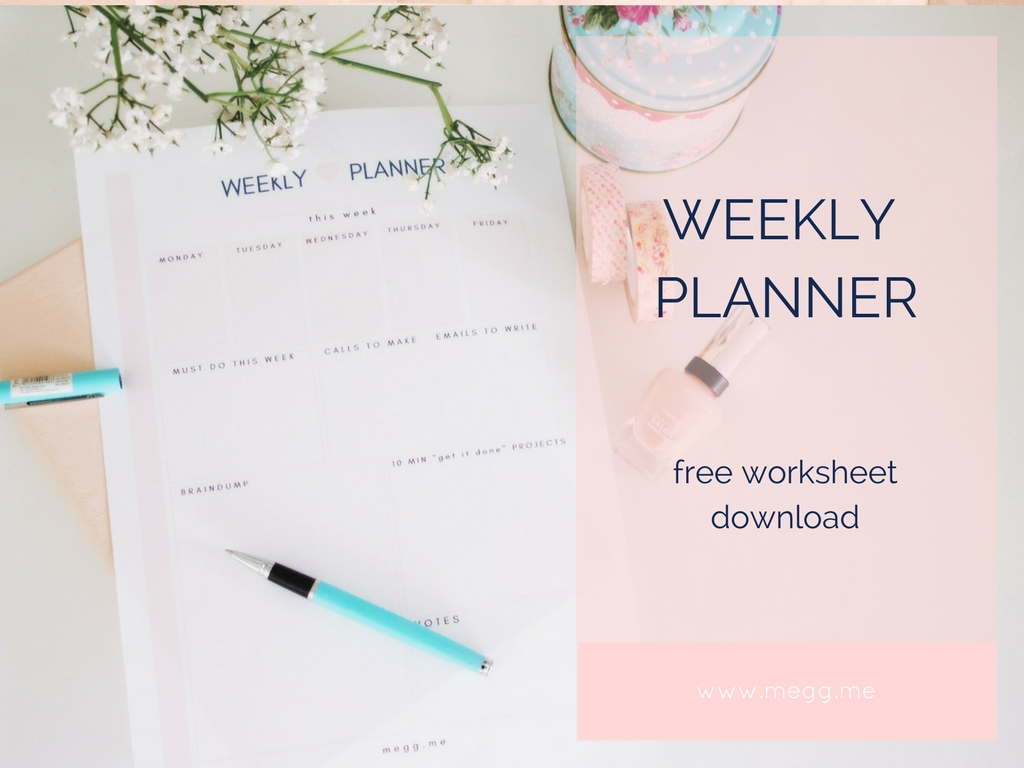 weekly planner free download