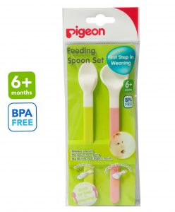 pigeon feeding spoon set for baby solids